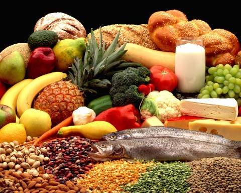 Fruit Vegetables And Meat Meat Fish And Vegetables Are