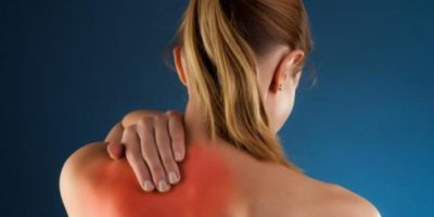 back pain in the upper area